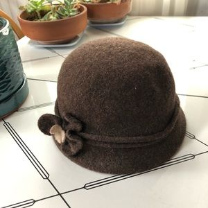 Hat, brown, wool blend